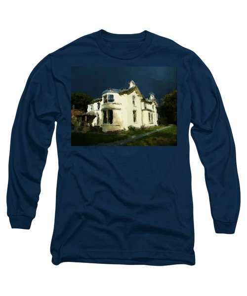 Moody Sky Over Allenbank Painting Long Sleeve T-Shirt