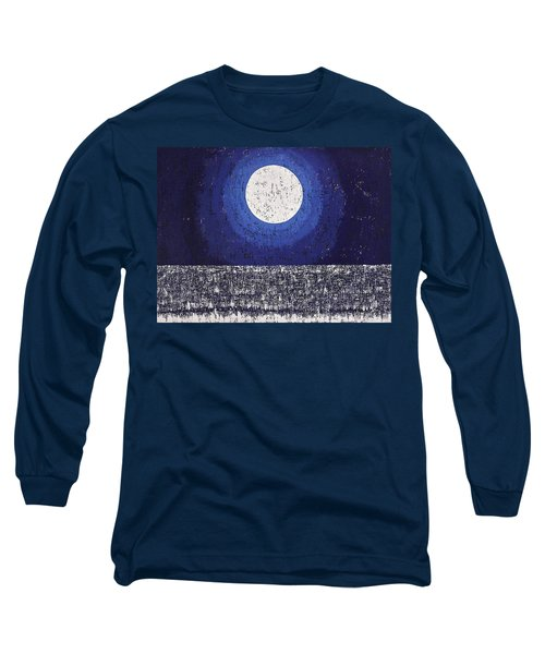 Moonbathing Original Painting Long Sleeve T-Shirt