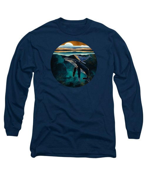Moonlit Whales Long Sleeve T-Shirt