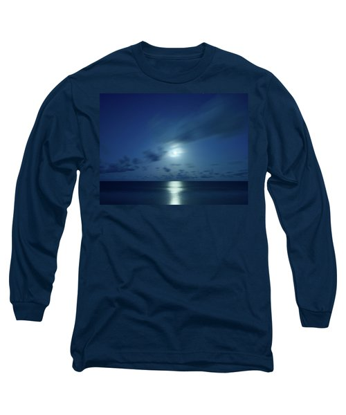 Moonrise Over The Sea Long Sleeve T-Shirt
