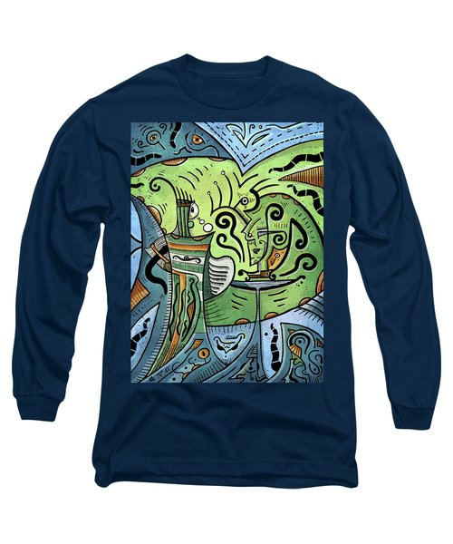 Long Sleeve T-Shirt featuring the painting Mystical Powers by Sotuland Art