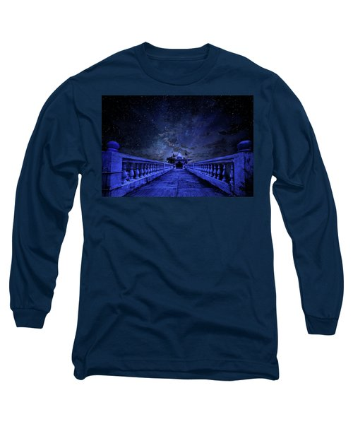 Night Sky Over The Temple Long Sleeve T-Shirt