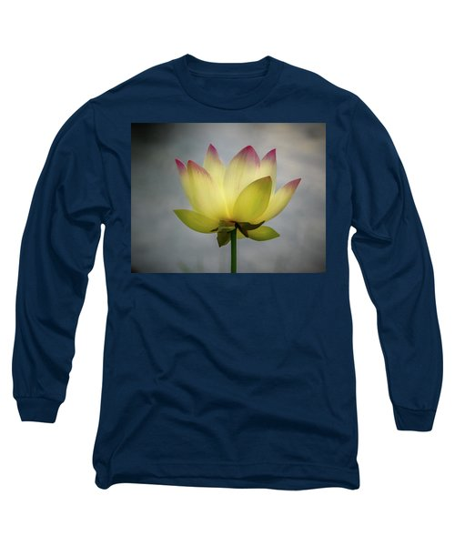 Pink Tipped Lotus Long Sleeve T-Shirt