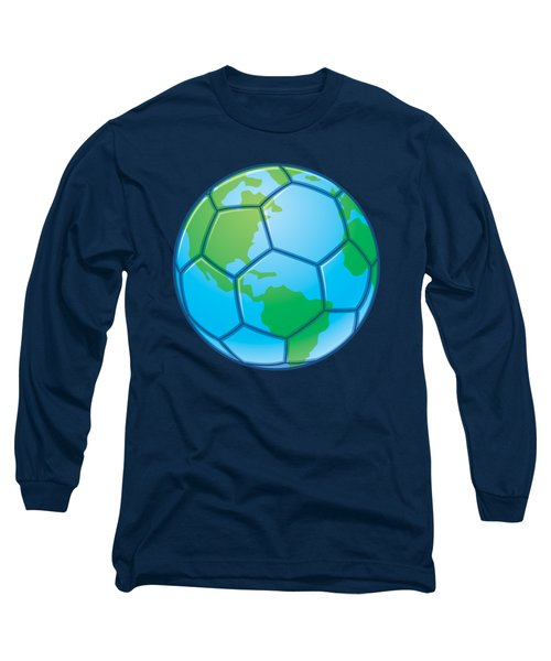 Planet Earth World Cup Soccer Ball Long Sleeve T-Shirt