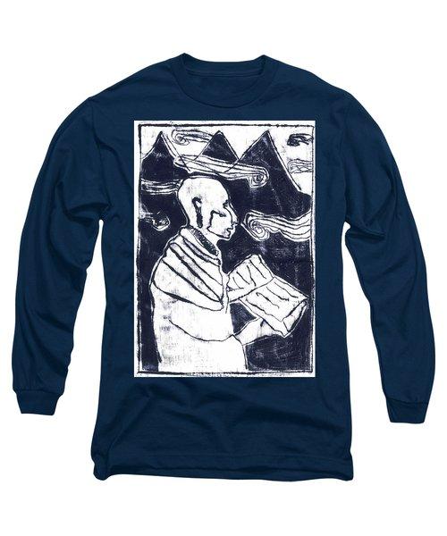 Poet Reading To Wind Clouds Otdv3 13 Long Sleeve T-Shirt