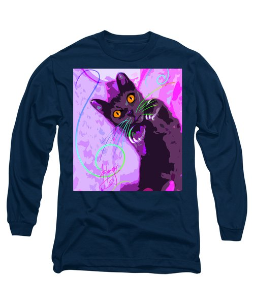 Pop Cat Angel Long Sleeve T-Shirt