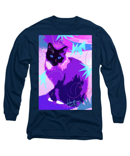 Pop Cat Cocoa Long Sleeve T-Shirt