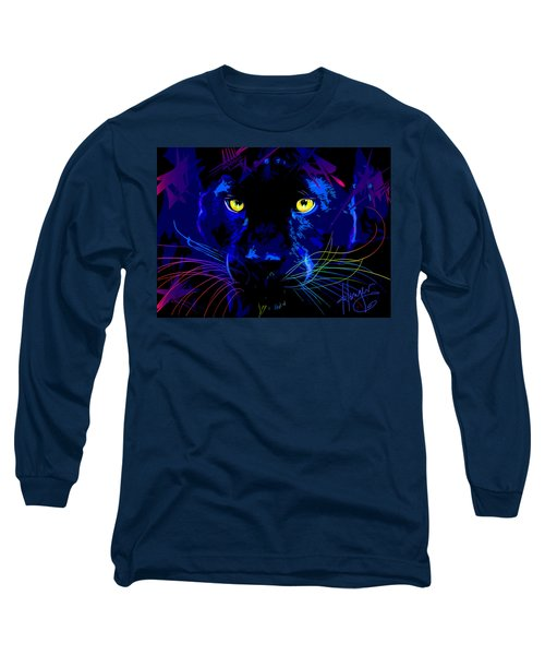pOpCat Black Panther Long Sleeve T-Shirt
