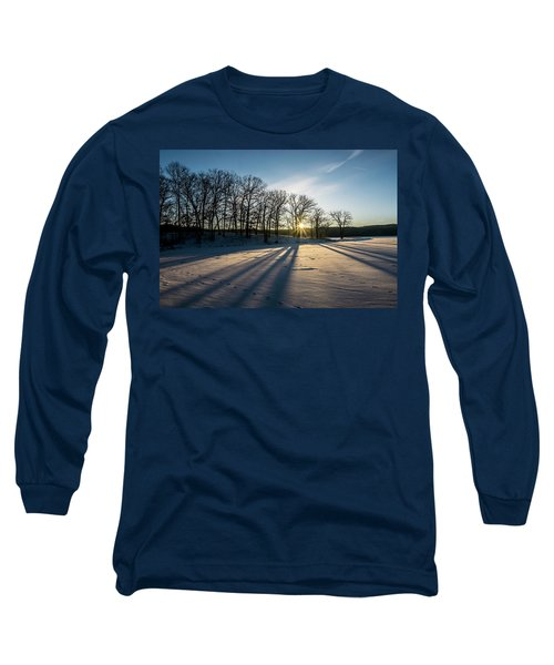 Pretty Winter Sun Rise Scene Long Sleeve T-Shirt