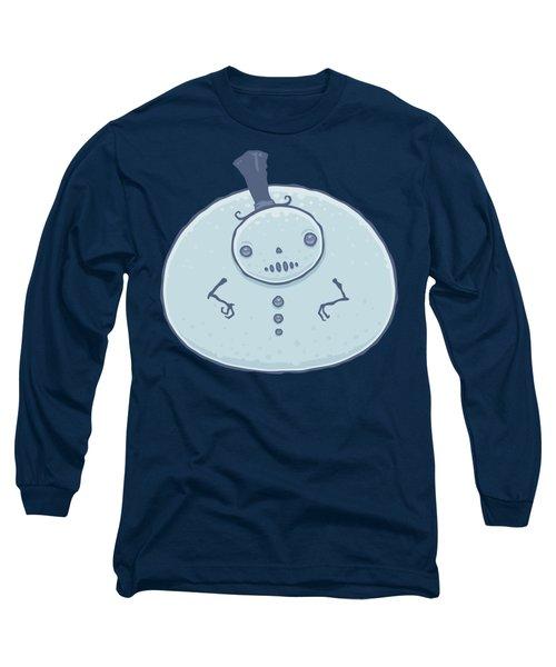 Pudgy Snowman Long Sleeve T-Shirt