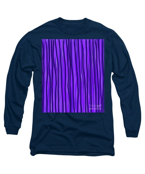 Purple Lines Long Sleeve T-Shirt