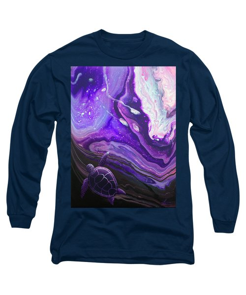 Long Sleeve T-Shirt featuring the painting Purple Munchkin by William Love