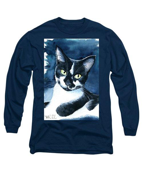 Rollie Tuxedo Cat Painting Long Sleeve T-Shirt