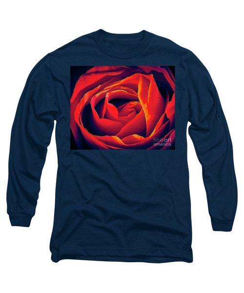Rose Ablaze Long Sleeve T-Shirt