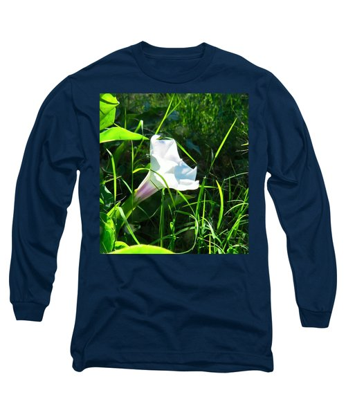 Long Sleeve T-Shirt featuring the photograph Sacred Datura - Fairy Flower by Judy Kennedy