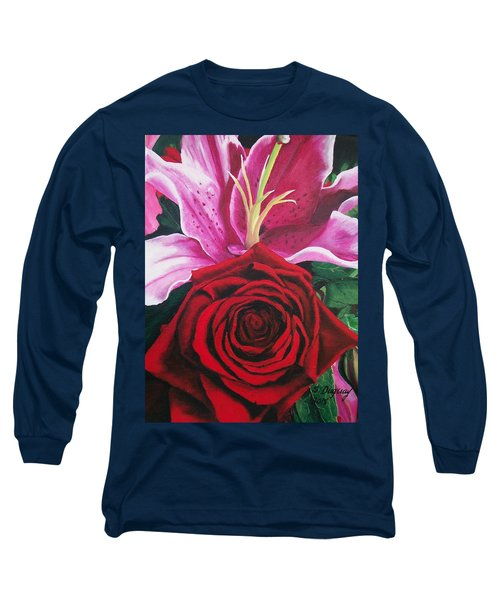 Scarlet Knight And A  Lily  Long Sleeve T-Shirt