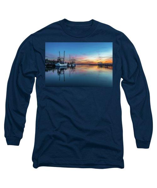 Shem Creek Blue Hour, Mt. Pleasant Sc Long Sleeve T-Shirt