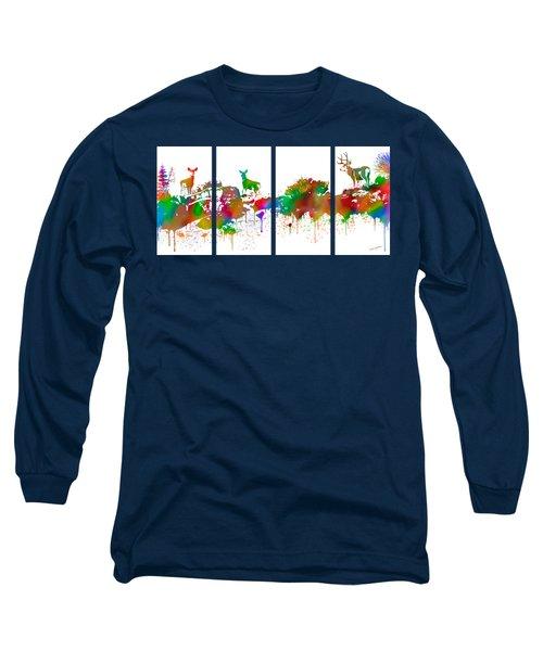 Skyline Deer Habitat 4pc Panel Long Sleeve T-Shirt