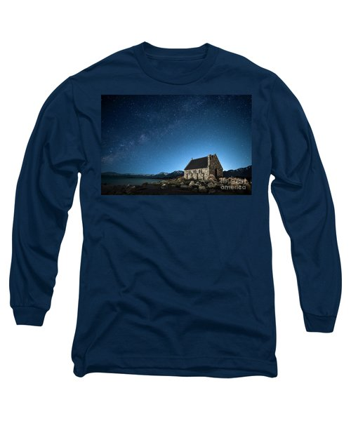 Stars And Midnight Blue Long Sleeve T-Shirt
