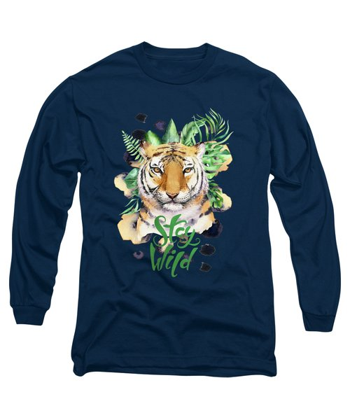 Stay Wild Tiger Long Sleeve T-Shirt