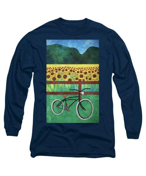 Sunflowers At Whitehall Farm Long Sleeve T-Shirt
