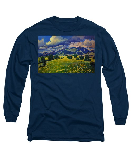 Taos Yellow Flowers Long Sleeve T-Shirt