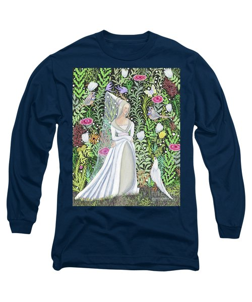 The Lady Vanity Takes A Break From Mirroring To Dream Of An Unusual Garden  Long Sleeve T-Shirt