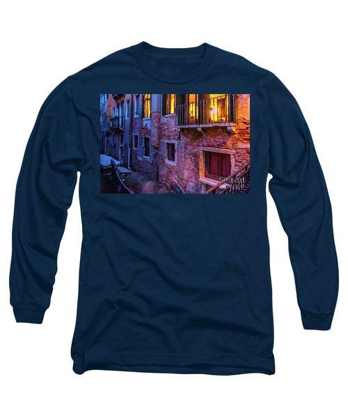 Venice Windows At Night Long Sleeve T-Shirt