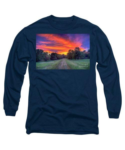 Warm Summer Night Long Sleeve T-Shirt