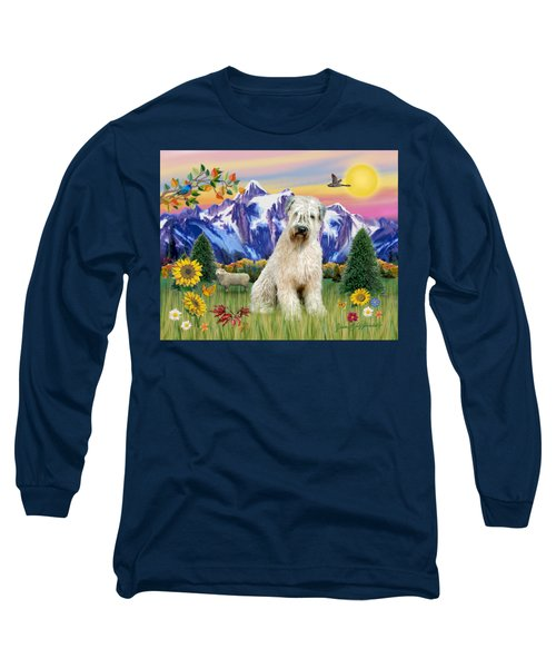 Wheaten Terrier In The Country Long Sleeve T-Shirt