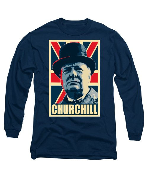 Winston Churchill Propaganda Long Sleeve T-Shirt