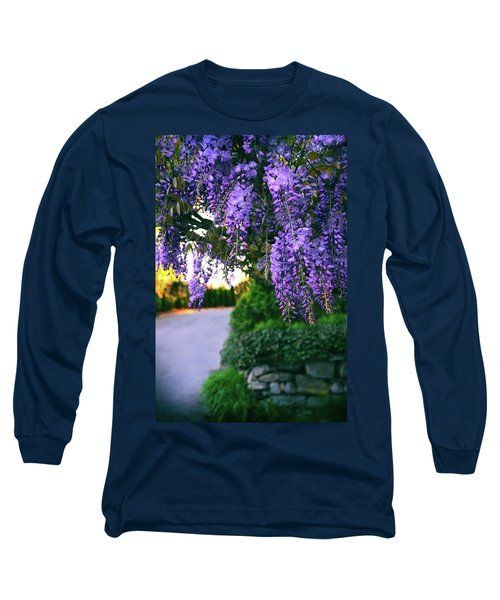 Wisteria At Sunset Long Sleeve T-Shirt