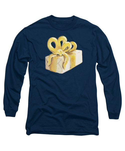 Long Sleeve T-Shirt featuring the painting Yellow Present by Maria Langgle