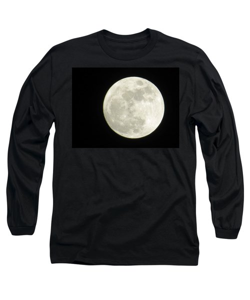 A Winter'sfullmoon Over Ga Long Sleeve T-Shirt