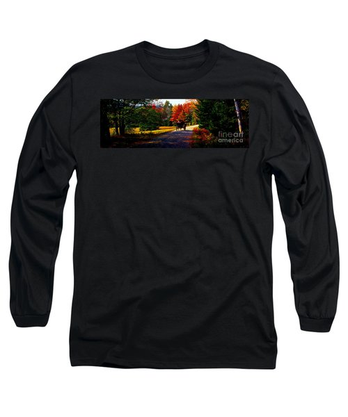 Long Sleeve T-Shirt featuring the photograph  Acadia National Park Carriage Trail Fall  by Tom Jelen