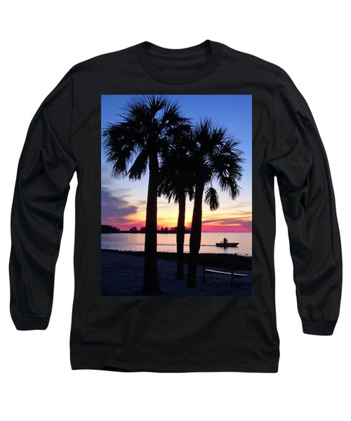 Long Sleeve T-Shirt featuring the photograph  Beach Sunset by Aimee L Maher Photography and Art Visit ALMGallerydotcom