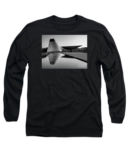 Black And White Mog Reflections  Long Sleeve T-Shirt