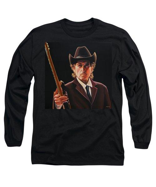 Bob Dylan 2 Long Sleeve T-Shirt by Paul Meijering