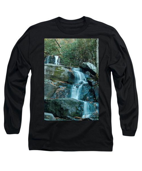 Long Sleeve T-Shirt featuring the photograph  Bottom Of Laurel Falls by Patrick Shupert