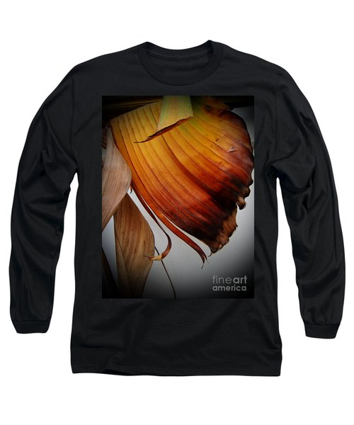 Dried Leaves Long Sleeve T-Shirt by Michelle Meenawong