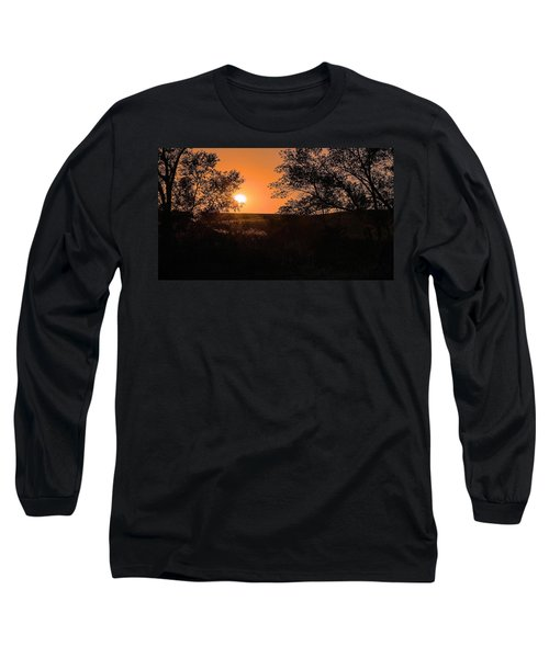 Hayfield At Night Long Sleeve T-Shirt
