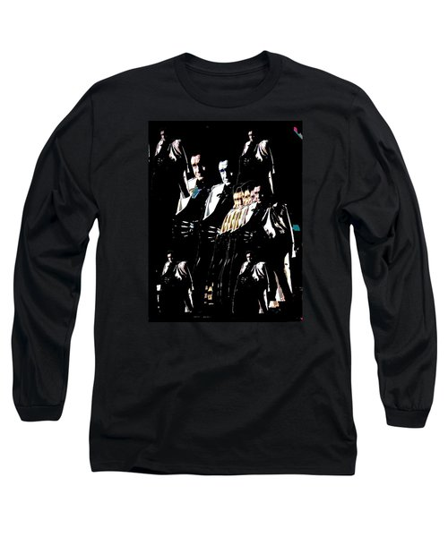 Long Sleeve T-Shirt featuring the photograph  Johnny Cash Multiplied  by David Lee Guss
