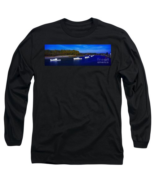 Long Sleeve T-Shirt featuring the photograph  Kennnepunkport Harbor  Maine  by Tom Jelen