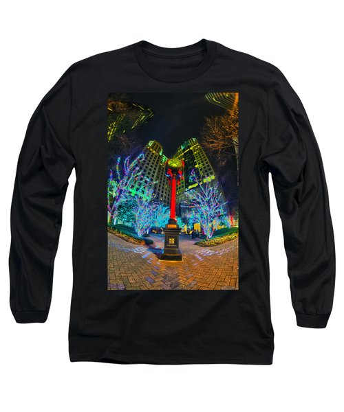 Nightlife Around Charlotte During Christmas Long Sleeve T-Shirt