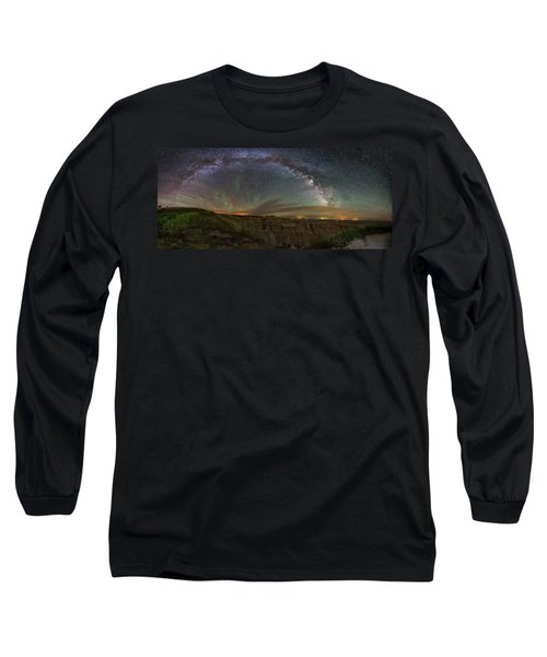 Pinnacles Overlook At Night Long Sleeve T-Shirt