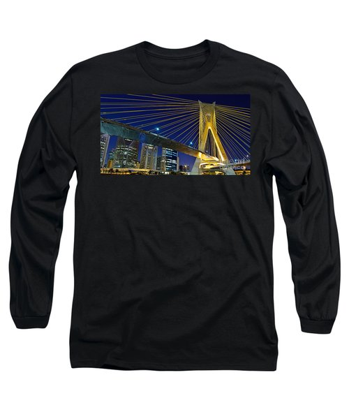 Sao Paulo's Iconic Cable-stayed Bridge  Long Sleeve T-Shirt