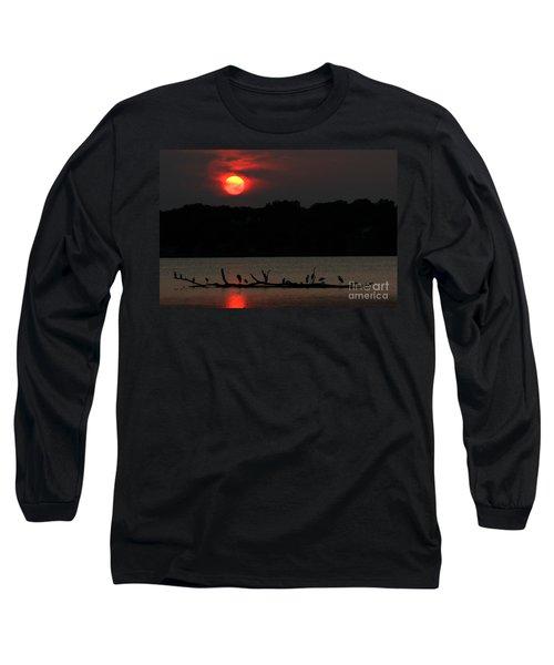 0016 White Rock Lake Dallas Texas Long Sleeve T-Shirt