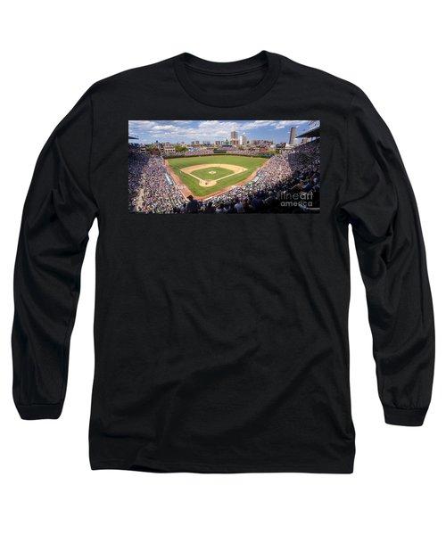 0100 Wrigley Field - Chicago Illinois Long Sleeve T-Shirt