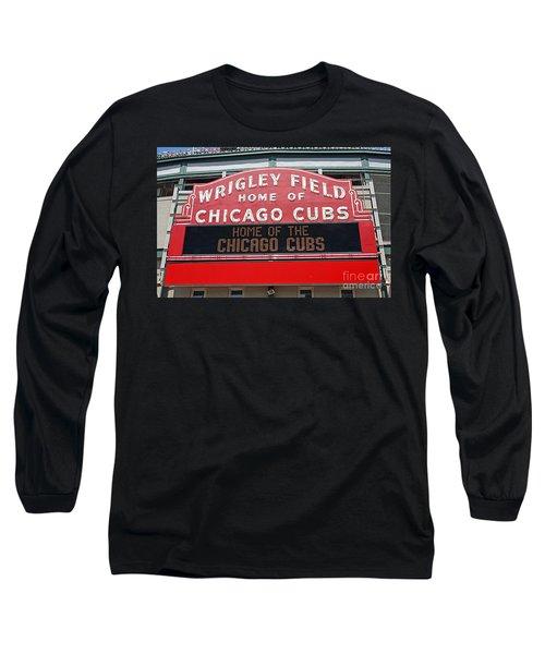 0334 Wrigley Field Long Sleeve T-Shirt by Steve Sturgill