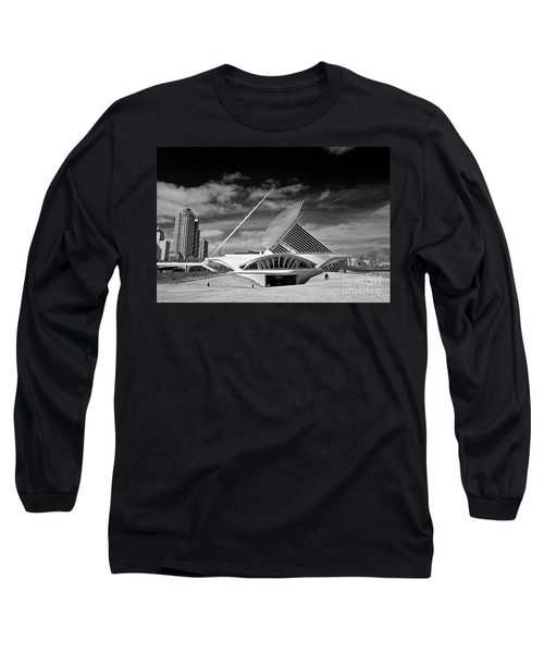0352 Milwaukee Art Museum Infrared Long Sleeve T-Shirt